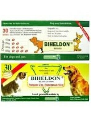 BIHELDON-Dog and Cat Wormer Broad Spectrum Dewormer, Woming Tabs,EXP:11.2021