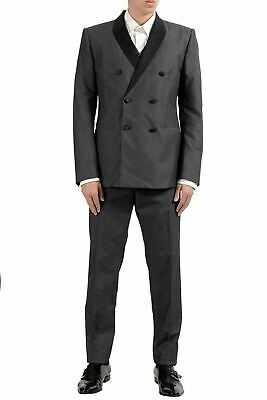 Dolce & Gabbana Men's Gray Silk Double Breasted Three Piece Suit US 40 IT 50