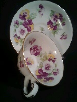 Royal Chelsea, Gorgeous Cup & Saucers Set-English Bone China-Perfect Condition