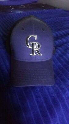 promo code 156c9 b2bc0 Colorado Rockies CR New Era 39THIRTY MLB Neo Stretch Fit Flex Mesh Back Cap  Hat