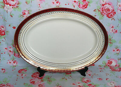 Ancien Grand Plat Service Oval Demi Porcelaine Ceranord France Vaisselle Ancienn