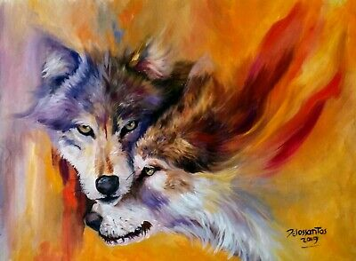 """PEACEFULNESS  oil on canvas 18X24""""original painting intense and colorful  art"""