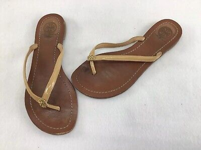 544a99146c48 TORY BURCH JELLY Bow Logo-Charm Thong Orange Sandals Size 6 -  39.99 ...