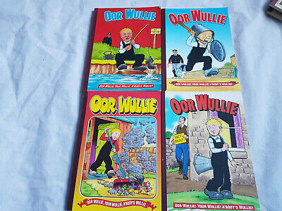 Oor Wullie Comic Book Annual Scottish Our Willie Bundle 1980 1998 2000 2002 Lot