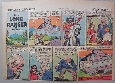 Lone Ranger Sunday Page by Fran Striker and Charles Flanders from 1/4/1942