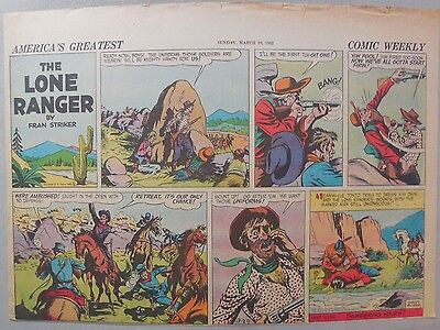 Lone Ranger Sunday Page by Fran Striker and Charles Flanders from 3/29/1942