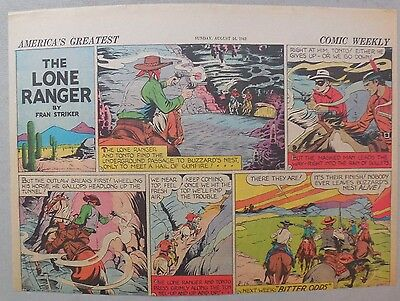 Lone Ranger Sunday Page by Fran Striker and Charles Flanders from 8/16/1942