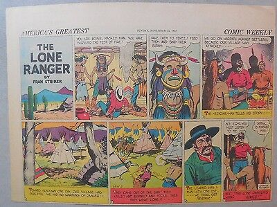 Lone Ranger Sunday Page by Fran Striker and Charles Flanders from 11/15/1942