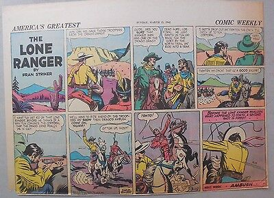 Lone Ranger Sunday Page by Fran Striker and Charles Flanders from 3/15/1942
