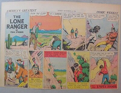 Lone Ranger Sunday Page by Fran Striker and Charles Flanders from 9/13/1942