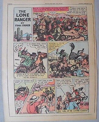 Lone Ranger Sunday Page by Fran Striker and Charles Flanders from 2/28/1943