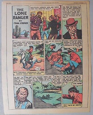 Lone Ranger Sunday Page by Fran Striker and Charles Flanders from 11/28/1943