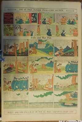 Polly and Her Pals Sunday by Cliff Sterrett from 9/15/1929 Full Page Size !