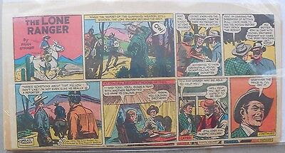 (19) Lone Ranger Sunday Pages by Fran Striker and Charles Flanders from 1955