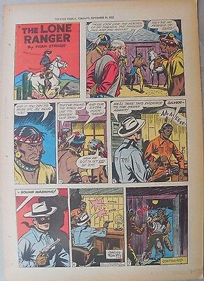 Lone Ranger Sunday Page by Fran Striker and Charles Flanders from 9/25/1955