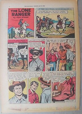Lone Ranger Sunday Page by Fran Striker and Charles Flanders from 5/29/1955