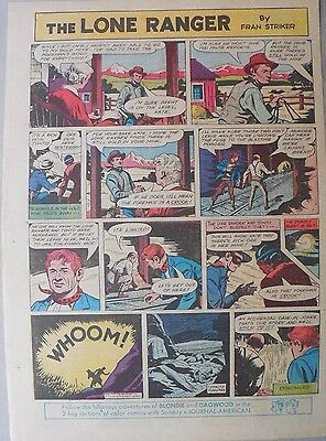 Lone Ranger Sunday Page by Fran Striker and Charles Flanders from 12/29/1957