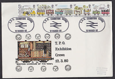 Great Britain 1980 Train Cover TPO Exhibition Crewe Liverpool Manchester Railway