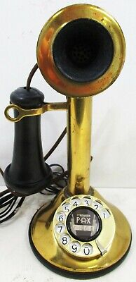American Telegraph Brass Candlestick 323 / Rotary Dial Circa 1915's