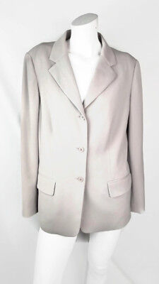 Eddie Bauer Women's Two-piece Pants  suit beige blazer tan size 10 lined