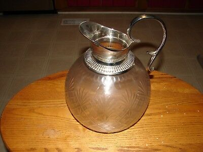 Glass & Silver Plated Serving Pitcher