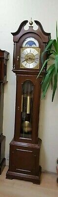 Mahogany Brass Dial Longcase GRANDFATHER CLOCK With Triple Chime Movement
