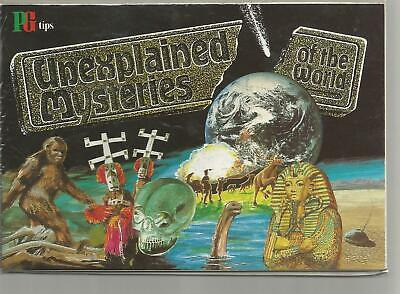 UNEXPLAINED MYSTERIES OF THE WORLD (1987)   EMPTY/UNUSED BOOK. (No Insert)