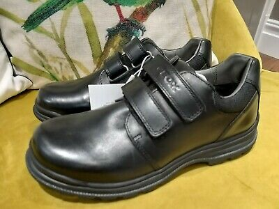 Boys' Shoes Geox J William A Boys Black Leather School Shoes Twin Strap Size Uk 10 Eu 28 The Latest Fashion