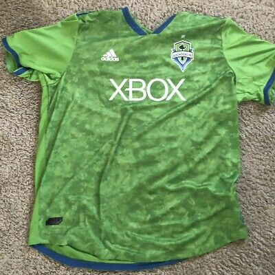 8df3ff1c4 NWT Adidas Seattle Sounders FC 2018 Authentic Green XBOX Jersey XXL 2XL  MSRP$120