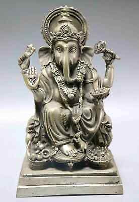 Collect Antique Tibet Silver Carve Exorcism Bring Lucky India Buddhism Statue