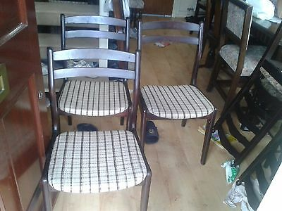 3 Regency dining chairs, Mahogany, solid wood, no table, vintage
