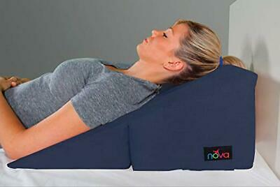 """NOVA Foldable Bed Wedge 12"""" Navy Blue Pillow Table 3 Slope Elevations, NEW"""