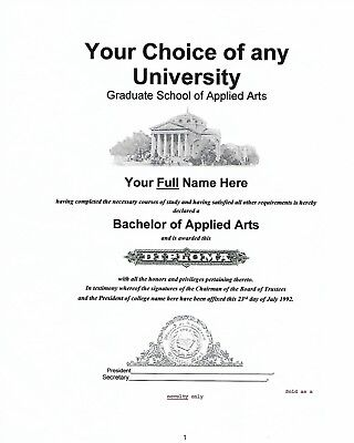Make  Own Novelty Diplomas &, Certificates  From Cd With Unique Diploma Kit