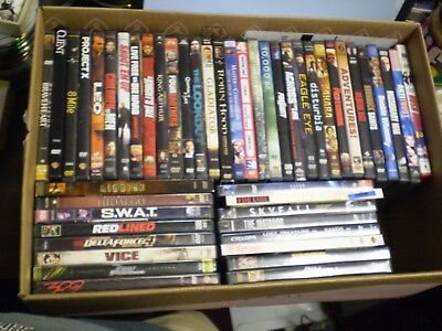 (59) Action/Adventure DVD Lot: Vin Diesel Russell Crowe The Rock Mel Gibson MORE