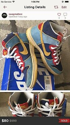 competitive price fa4f4 a34d8 Mens 2009 OG Nike Dunk High Pro Sb Mr. Pacman Sneakers With Box