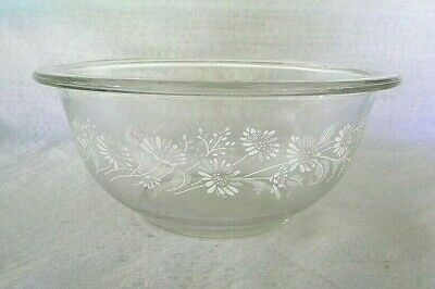Vintage PYREX Nesting Mixing Bowl 1L Colonial Mist Clear/White USA