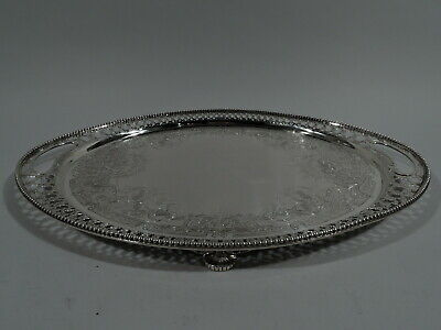 Tiffany Salver - 8863 - Antique Aesthetic Tray - American Sterling Silver