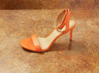 71995214bfce Tory Burch  Elana  Ankle Strap Sandals Orange Leather Women 7.5 M MSRP