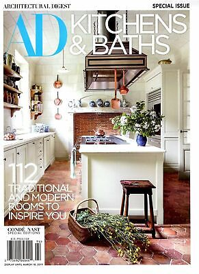 Architectural Digest AD Kitchens & Baths Magazine 112 Traditional & Modern Rooms