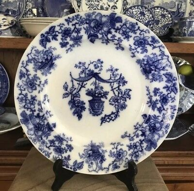 Flow Blue Antique Round Platter by Charles Meigh dated 1835-1849