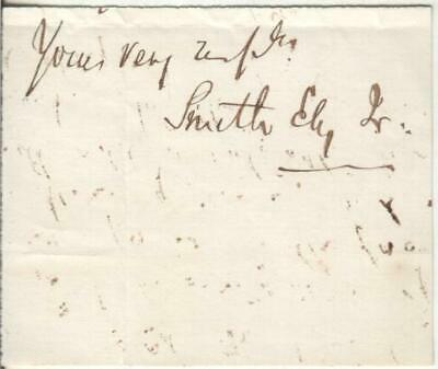Smith Ely Jr. Autograph 82nd Mayor of New York City 1877 and 1878 D.1911