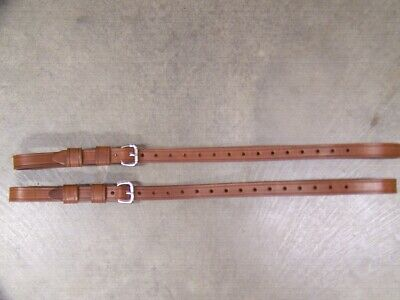 Leather Luggage Straps for Luggage Rack Carrier 2 Set LT Med Brn Stainless Steel