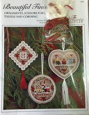 Beautiful Finishing 2 Ornaments and Fobs Chart + Acc by Victoria Sampler RRP $75