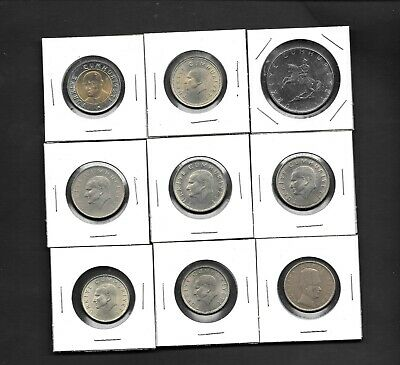 Turkey - Lot of 9 Coins Very Nice Starter Mixed Bunch