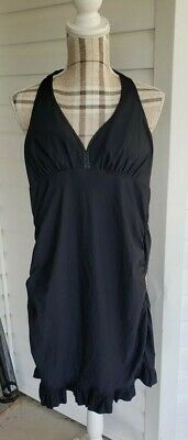 539a49ffdd Love Your Assets by Sara Blakely SPANX Black Swimsuit Ruffle Skirted  Swimdress L