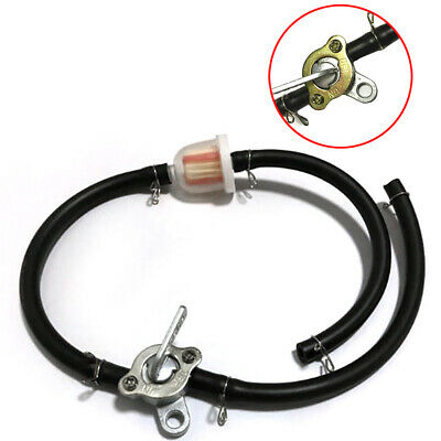 Inline Fuel Tank Tap Petcock Filter Hose Kit Set Repair For ATV Scooter