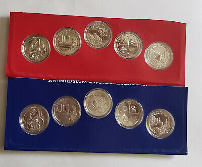 2019 P & D American the Beautiful 10 coin set Gem Bu from mint sets PRE SALE