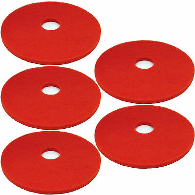 5 x Floor Buffer Pads Polisher Cleaning Dry Buffing & Final Polishing Red 18""
