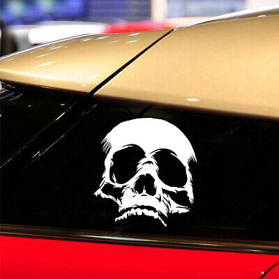 1x Terrible Evil Skull Face Car Sticker Funny Motorcycle PET Decals Removable