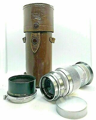 *EXC+++* Canon Serenar 100mm f/4 Lens Leica Screw Mount L39 w/ Case From JAPAN